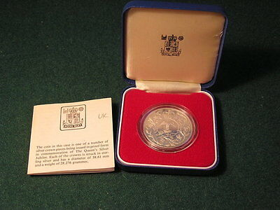 7 x 1977 Commemoration Silver Proof Crown Coins Commemorative Crowns