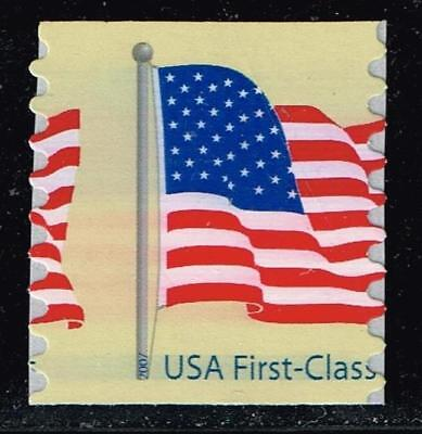 USA STAMP #4134 – 2007 41c Flag coil, 8 1/2 MISPERF ERROR MNH