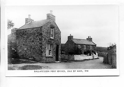 Isle Of Man - Mannin 1983 Limited Edition (250) Rppc Ballafeson Post Office