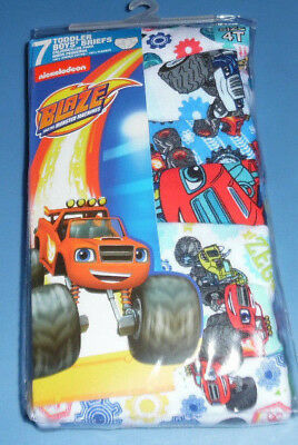 Blaze Monster Machine Trucks Toddler Boys Size 4T Underwear 7 Cotton Briefs NIP