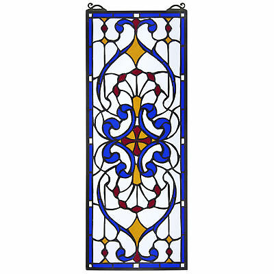 Design Toscano Hyde Street Tiffany-Style Stained Glass Window Panel