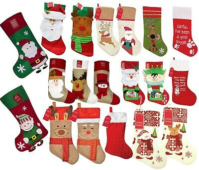 Christmas Stocking Sack Tapestry Xmas Decoration Stockings For Gift & Presents