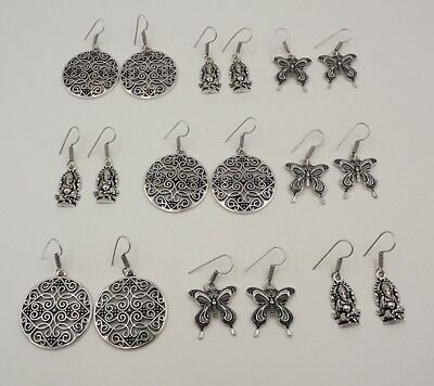 9 Pcs. Lot Very Beautiful 925 Silver Plated Charming Designer Earring KA10659