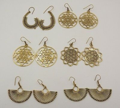 Gorgeous 925 Solid Brass 6Pcs. Lot Attractive Designer Spiral Earring KA10307