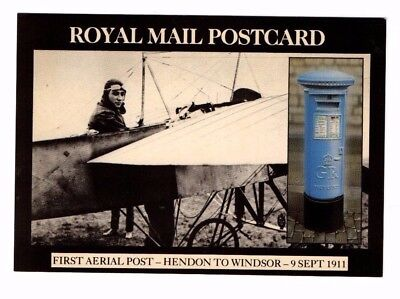 1986 First Aerial Post 1911 - Royal Mail Postcard From Collection X17