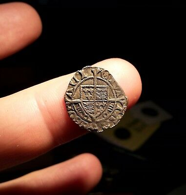 Hammered Medieval silver penny Henry VII Sovereign type