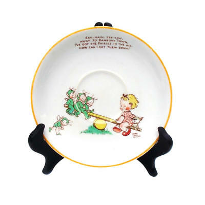 Vintage 1930s Mabel Lucie Attwell Boo Boo Saucer Nursery Plate Shelley Fairy Imp