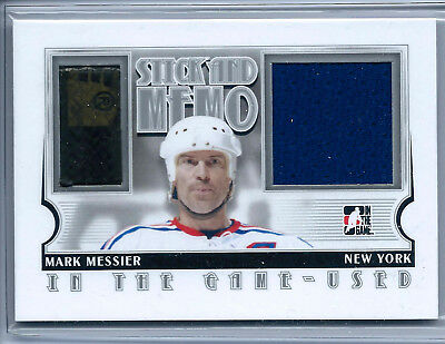 2013-14 ITG Used Game-used Stick and Memo Silver Version Mark Messier /20
