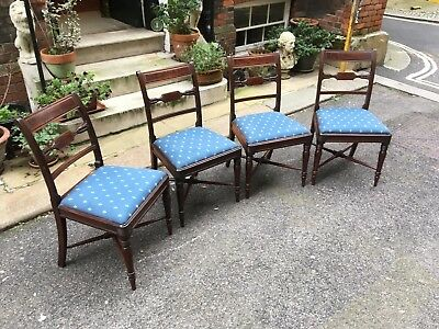 Regency Rosewood Dining Chairs - Four - c 1820