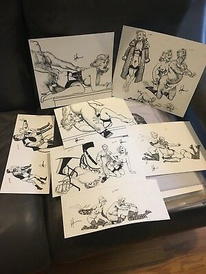 Howard Chaykin RARE XXX Original Comic Art Sketch - One Sketch for THIS AUCTION!