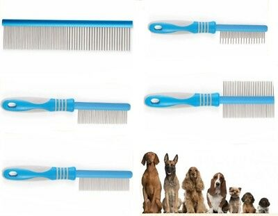 Ancol Ergo Grooming Combs Moulting Flea Medium Double Sided & Aluminum Combs