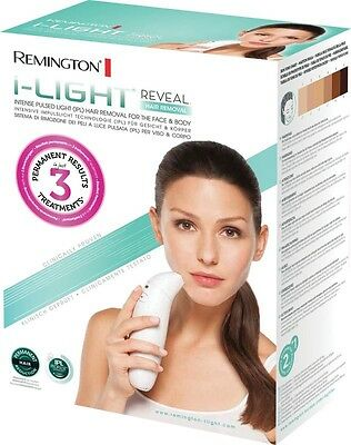 Remington i-Light Reveal Laser Face & Body Hair Removal IPL ProPulse Cordless