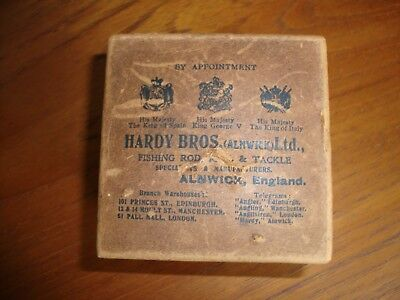 "Hardy Brothers Of Alnwick Vintage Reel Box FOR ""PERFECT"" REEL also rod butt etc"