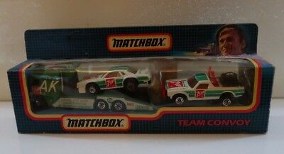Vintage Matchbox Team Convoy 3 Vehicle Set  - Seven Up Racing  Livery Boxed