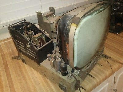 ANTIQUE TV Emerson? From CABINET AS IS For Parts/Display Free Shipping