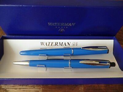 Vintage Waterman Fountain And Ballpoint Pen Set In Box