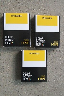 Polaroid film - 3 x Impossible Instant Color/ yellow/- I-Type  - 05/16