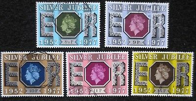 Great Britain - 1977 - Silver Jubilee - SG 1033/1037 - Used Set