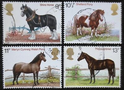 Great Britain - 1978 - Horses - SG 1063/1066 - Used Set