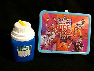NFL National Football League Team Lunchbox & Thermos King Seeley 1978 Vintage