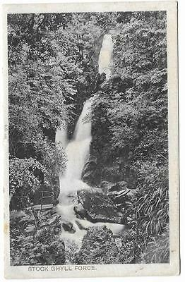 Vintage Postcard.Stock Ghyll Force. Peacock Brand Aquarelle. Mailed in 1908