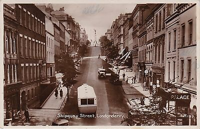 Shipquay Street & Bus, LONDONDERRY, County Londonderry, Ulster RP