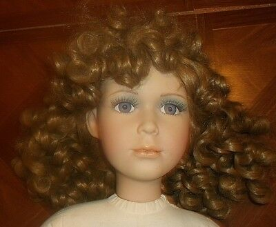 25-in Porcelain doll by William Tung, dated 1996, NEEDS CLOTHING!