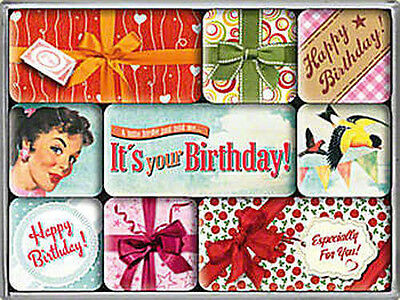 Magnet-Set - Happy Birthday, 9-teilig