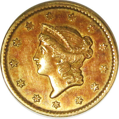 1851 Philadelphia $1 Liberty Head Gold Dollar Nice Circulated No Reserve