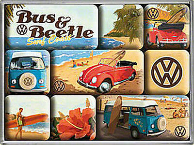 Magnet-Set - VW Beach, 9-teilig