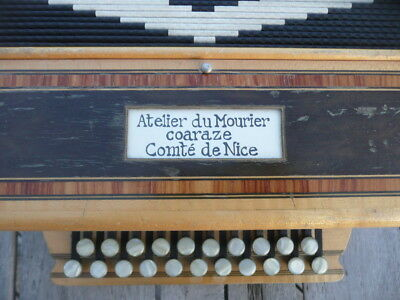 Rare Accordeon Diatonique Atelier Du Mourier - Coaraze - Tres Bon Etat General