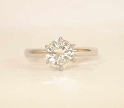 Platinum Moissanite 1ct Engagement Ring with a £1,350 Valuation