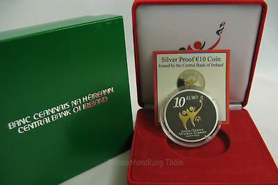 """Irland 2003: 10 Euro """"Special Olympics"""" Silber PP"""