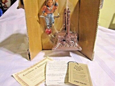 Vintage Cast Iron The John Wright Penny Mechanical Bank Collection Boy Trapeze