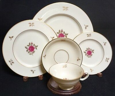 Lenox China RHODORA Rose 5 Piece Place Setting (s)  EXCELLENT CONDITION