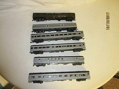 6-Rivarossi New York Central Pass. Cars, C-7 Condition, HO Scale