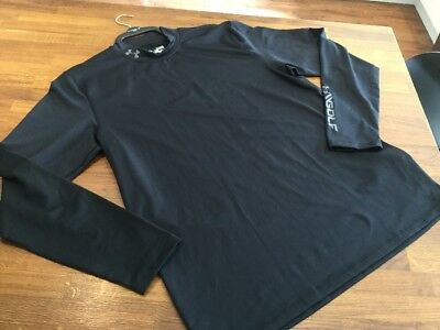 Brand New Men's Under Armour Golf Fitted Base Layer Top Size XL Black