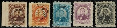 Mexico #123,125-126,129a,130a 1879 MH(129a,130a)/Used/Unused NG(126)