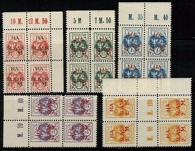 Central Lithuania #B1-6(XB4) Blocks of 4 1921 MNH