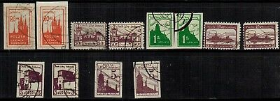 Central Lithuania #J1-6 Perf. & Imperf. Complete 2 Sets 1920-21 Used