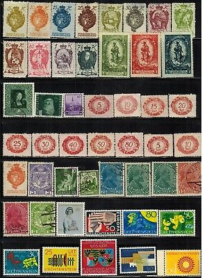 Lot of Liechtenstein Old Stamps MH/MNH/Used