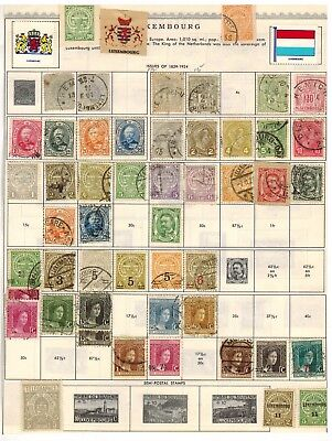 Lot of Luxembourg Old Stamps Used/MH