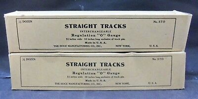 2 Boxes of Hoge Manufacturing O Gauge Straight Track - SCARCE