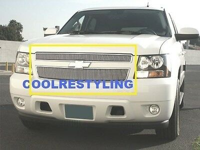 FOR 07~14 Chevy Tahoe Suburban Vertical Billet Grille 2pcs UPPER