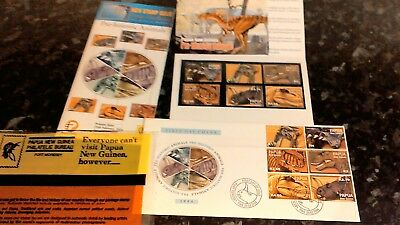 Stamp set Papua New Guinea Pre - historic Animals