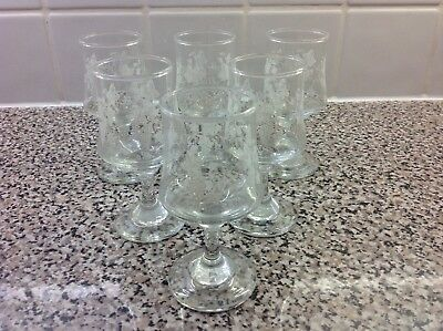 6 Lovely Sherry/Port Glasses in Mint Used Condition