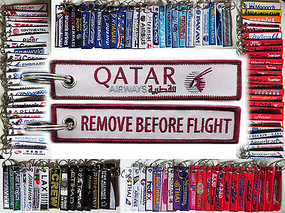 Keyring QATAR AIRWAYS Remove Before Flight tag keychain