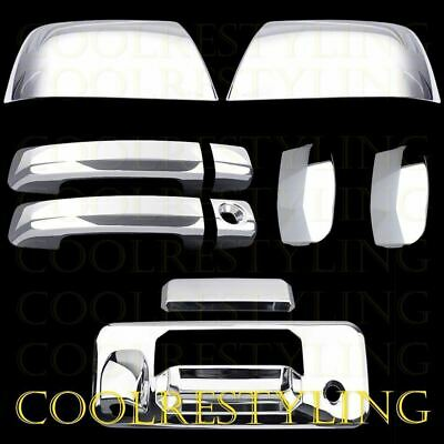 Toyota TUNDRA DOUBLE CAB 2014-17 Chrome Mirrors+4 Handles+Tailgate FOR