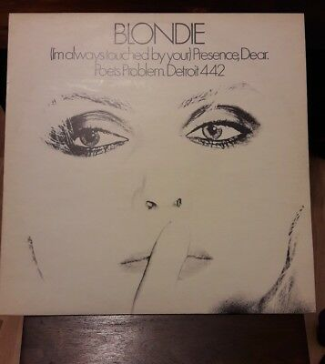 "Blondie, (I'm Always Touched By Your) Presence Dear. 12"" Uk Vinyl, P/s Blue & Wh"