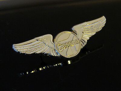 WINGS Pin CESSNA Aircraft gold metal Private Pilot C172 C182 C150 C140 C195 C190